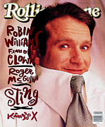 Williams Photo Framed Prints - Rolling Stone Cover - Volume #598 - 2/28/1991 - Robin Williams Framed Print by Mark Seliger