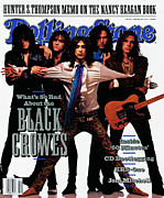 Rollingstone Prints - Rolling Stone Cover - Volume #605 - 5/30/1991 - Black Crowes Print by Mark Seliger