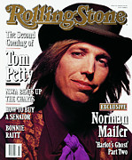 Covers Photo Prints - Rolling Stone Cover - Volume #610 - 8/8/1991 - Tom Petty Print by Mark Seliger