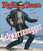 Featured Framed Prints - Rolling Stone Cover - Volume #611 - 8/22/1991 - Arnold Schwarzenegger Framed Print by Herb Ritts