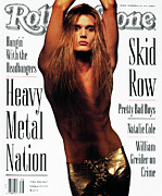 Roll Framed Prints - Rolling Stone Cover - Volume #613 - 9/19/1991 - Sebastian Bach Framed Print by Mark Seliger