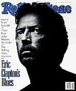 Clapton Framed Prints - Rolling Stone Cover - Volume #615 - 10/17/1991 - Eric Clapton Framed Print by Albert Watson