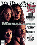 Rolling Stone Metal Prints - Rolling Stone Cover - Volume #617 - 11/14/1991 - Metallica Metal Print by Mark Seliger