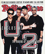 U2 Photo Framed Prints - Rolling Stone Cover - Volume #618 - 11/28/1991 - U2 Framed Print by Anton Corbijn