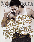 Covers Prints - Rolling Stone Cover - Volume #621 - 1/9/1992 - Michael Jackson Print by Herb Ritts