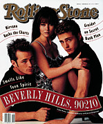 Beverly Hills Framed Prints - Rolling Stone Cover - Volume #624 - 2/20/1992 - Cast of Beverly Hills 90120 Framed Print by Andrew Eccles
