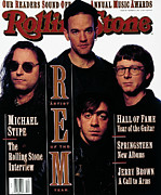 Featured Framed Prints - Rolling Stone Cover - Volume #625 - 3/5/1992 - REM Framed Print by Albert Watson