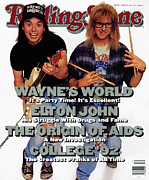 Covers Prints - Rolling Stone Cover - Volume #626 - 3/19/1992 - Mike Myers and Dana Carvey Print by Bonnie Schiffman
