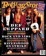 Featured Prints - Rolling Stone Cover - Volume #629 - 4/30/1992 - Def Leppard Print by Mark Seliger