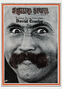 David Metal Prints - Rolling Stone Cover - Volume #63 - 7/23/1970 - David Crosby Metal Print by Ed Caraeff