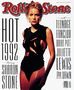 Sharon Stone Art - Rolling Stone Cover - Volume #630 - 5/14/1992 - Sharon Stone by Albert Watson