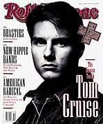 Tom Framed Prints - Rolling Stone Cover - Volume #631 - 5/28/1992 - Tom Cruise Framed Print by Albert Watson