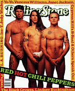 Chili Peppers Framed Prints - Rolling Stone Cover - Volume #633 - 6/23/1992 - Red Hot Chili Peppers  Framed Print by Mark Seliger