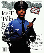 Featured Acrylic Prints - Rolling Stone Cover - Volume #637 - 8/20/1992 - Ice-T Acrylic Print by Mark Seliger