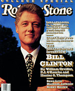 Bill Clinton Photo Framed Prints - Rolling Stone Cover - Volume #639 - 9/17/1992 - Bill Clinton Framed Print by Mark Seliger