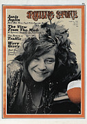 Magazine Metal Prints - Rolling Stone Cover - Volume #64 - 8/6/1970 - Janis Joplin Metal Print by Tony Lane