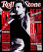 Bono Metal Prints - Rolling Stone Cover - Volume #640 - 10/1/1992 - Bono Metal Print by Neal Preston