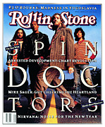 Spin Framed Prints - Rolling Stone Cover - Volume #647 - 1/7/1993 - Spin Doctors Framed Print by Mark Seliger