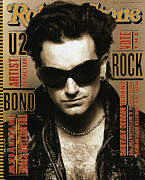Cover Photo Framed Prints - Rolling Stone Cover - Volume #651 - 3/4/1993 - Bono Framed Print by Andrew MacPherson