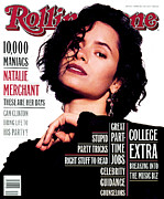 Merchant Framed Prints - Rolling Stone Cover - Volume #652 - 3/18/1993 - Natalie Merchant Framed Print by Jeffery Thurner