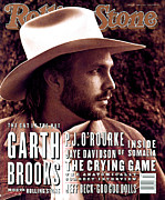 Stone Framed Prints - Rolling Stone Cover - Volume #653 - 4/1/1993 - Garth Brooks Framed Print by Kurt Markus