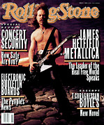 James Photo Framed Prints - Rolling Stone Cover - Volume #654 - 4/15/1993 - James Hetfield Framed Print by Mark Seliger