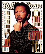 Featured Acrylic Prints - Rolling Stone Cover - Volume #655 - 4/29/1993 - Eric Clapton Acrylic Print by Albert Watson