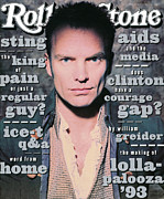 Sting Framed Prints - Rolling Stone Cover - Volume #657 - 5/27/1993 - Sting Framed Print by Andrew MacPherson