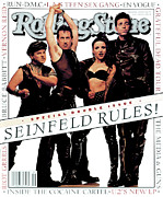 Roll Framed Prints - Rolling Stone Cover - Volume #660 - 7/8/1993 - Cast of Seinfeld Framed Print by Mark Seliger