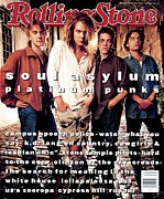 Soul Framed Prints - Rolling Stone Cover - Volume #662 - 8/5/1993 - Soul Asylum Framed Print by Mark Seliger