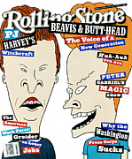 Rollingstone Posters - Rolling Stone Cover - Volume #663 - 8/19/1993 - Beavis and Butthead  Poster by Mike Judge