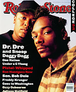 Doggy Photo Framed Prints - Rolling Stone Cover - Volume #666 - 9/30/1993 - Dr. Dre and Snoop Doggy Dog Framed Print by Mark Seliger