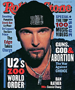 Featured Prints - Rolling Stone Cover - Volume #667 - 10/14/1993 - The Edge Print by Andrew MacPherson