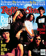 Rollingstone Framed Prints - Rolling Stone Cover - Volume #668 - 10/28/1993 - Pearl Jam Framed Print by Mark Seliger