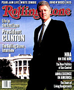 Bill Clinton Photo Framed Prints - Rolling Stone Cover - Volume #671 - 12/9/1993 - Bill Clinton Framed Print by Mark Seliger