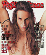 Featured Framed Prints - Rolling Stone Cover - Volume #679 - 4/7/1994 - Anthony Kiedis Framed Print by Matthew Rolston