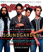 Rolling Stone Magazine Metal Prints - Rolling Stone Cover - Volume #684 - 6/16/1994 - Soundgarden Metal Print by Mark Seliger