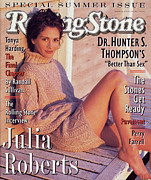 Roberts Framed Prints - Rolling Stone Cover - Volume #686 - 6/14/1994 - Julia Roberts Framed Print by Herb Ritts