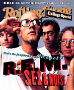 Featured Framed Prints - Rolling Stone Cover - Volume #693 - 10/20/1994 - REM Framed Print by Mark Seliger