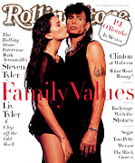 Rollingstone Posters - Rolling Stone Cover - Volume #694 - 11/3/1994 - Liv and Steven Tyler Poster by Albert Watson