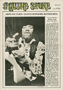Featured Prints - Rolling Stone Cover - Volume #7 - 3/9/1968 - Jimi Hendrix Print by Baron Wolman