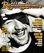 Van Halen Metal Prints - Rolling Stone Cover - Volume #705 - 4/6/1995 - Eddie Van Halen Metal Print by Mark Seliger