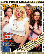 Hole Framed Prints - Rolling Stone Cover - Volume #715 - 8/24/1995 - Hole Framed Print by Mark Seliger