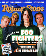 Fighters Art - Rolling Stone Cover - Volume #718 - 10/5/1995 - Foo Fighters  by Dan Winters