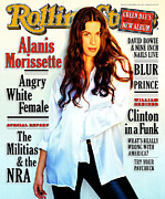 Featured Art - Rolling Stone Cover - Volume #720 - 11/2/1995 - Alanis Morissette by Frank Ockenfels