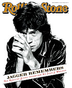 Magazine Metal Prints - Rolling Stone Cover - Volume #723 - 12/14/1995 - Mick Jagger Metal Print by Peter Lindbergh
