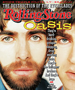Noel Prints - Rolling Stone Cover - Volume #733 - 5/2/1996 - Liam and Noel Gallagher Print by Nathaniel Goldberg