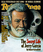 Jerry Garcia Prints - Rolling Stone Cover - Volume #740 - 8/8/1996 - Jerry Garcia Print by Paul Davis