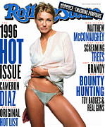 Featured Acrylic Prints - Rolling Stone Cover - Volume #741 - 8/22/1996 - Cameron Diaz  Acrylic Print by Mark Seliger