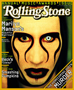 Marilyn Photo Metal Prints - Rolling Stone Cover - Volume #752 - 1/23/1997 - Marilyn Manson Metal Print by Matt Mahurin